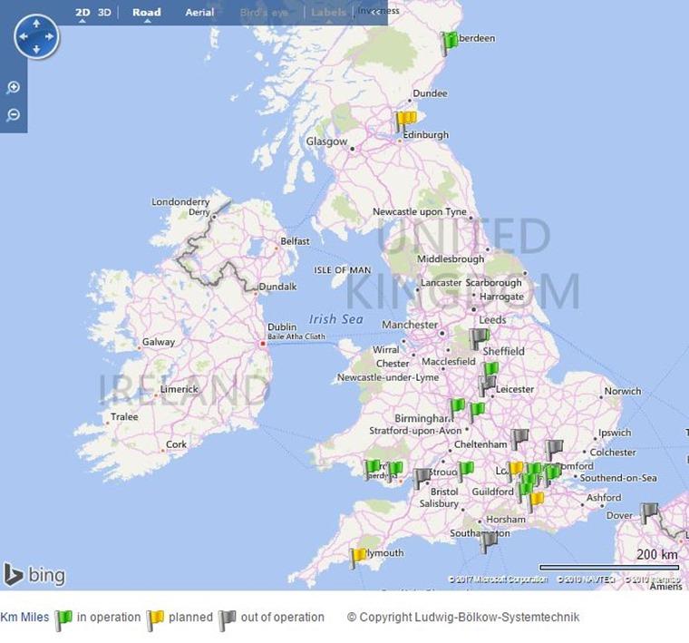 hydrogen refilling stations - map via https://www.netinform.net/H2/H2Stations/H2Stations.aspx