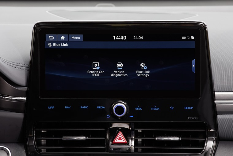 Hyundai Ioniq facelift screen