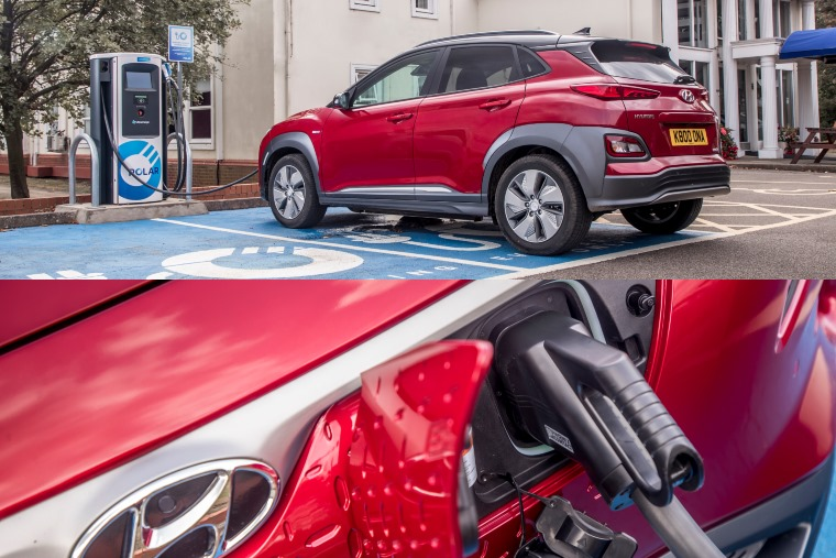 Hyundai Kona EV charging