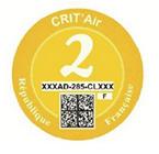 Crit Air Yellow