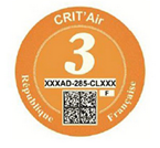 Crit Air Orange