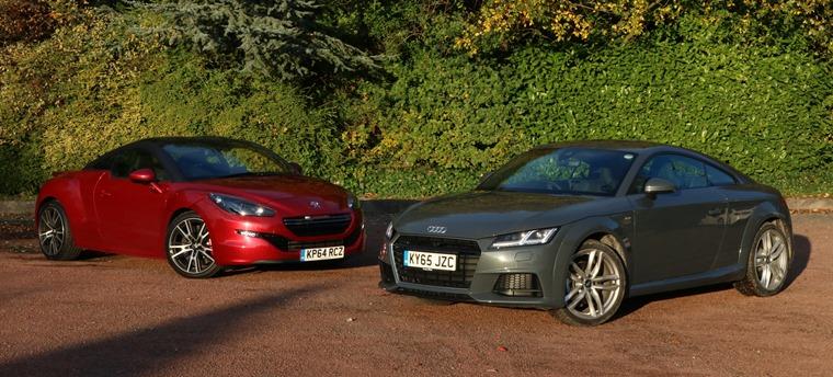 clash of the coupes: audi tt vs peugeot rcz-r   leasing