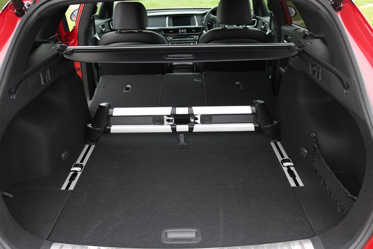 A clever rear seat splitting set-up makes the cavernous boot even more adaptable.