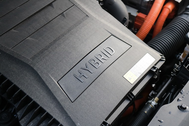 The Kia Niro's hybrid engine drivetrain.