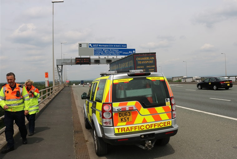We've been out and about with a Highways Agency patrol.