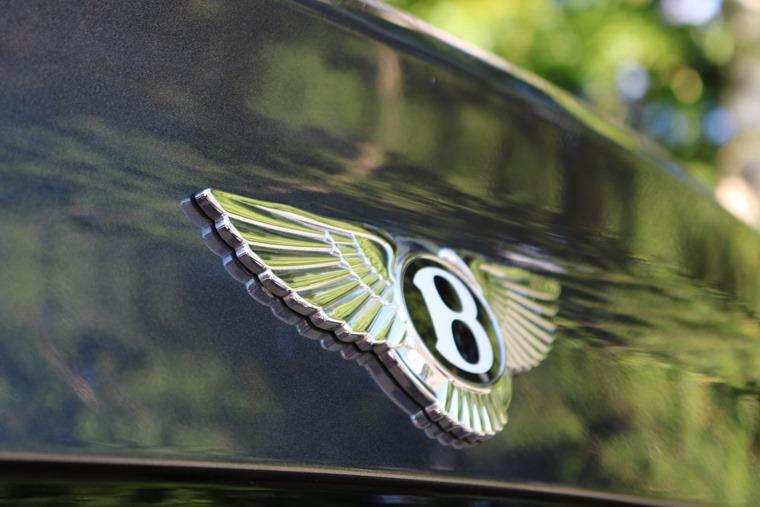 Bentley badge detail shot