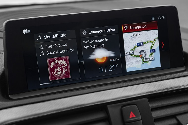 Updated iDrive infotainment system features...
