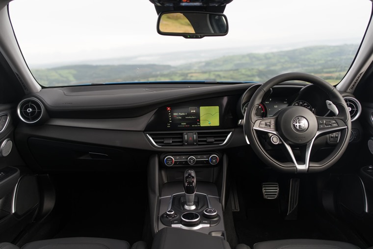 Fit and finish of the interior is spades ahead of other recent Alfas.