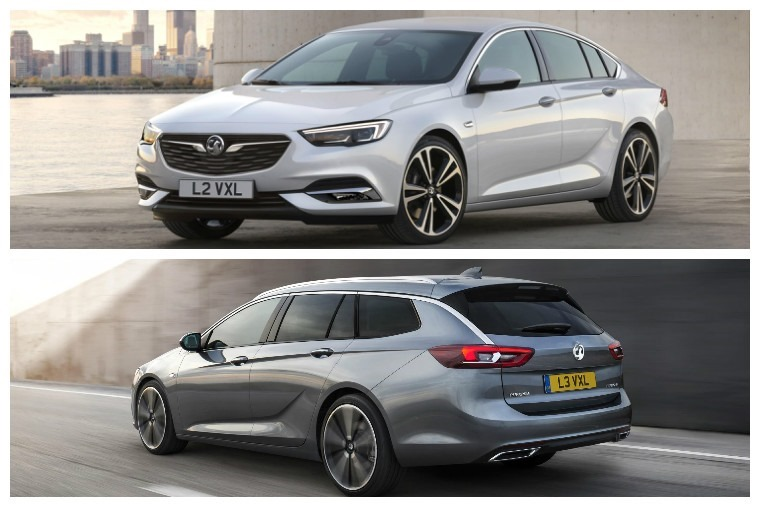 Both the Grand Sport hatch (above) and Sports Tourer Estate (below) will make their debut on Vauxhall's stand in Geneva