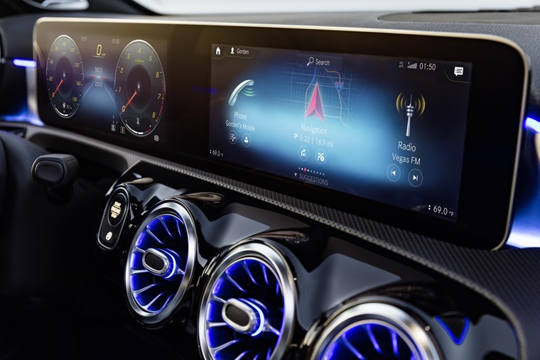 New digital displays are vivid and offer class-leading functionality and voice-recognition tech.