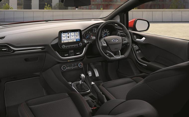 Interior of the new Fiesta Van