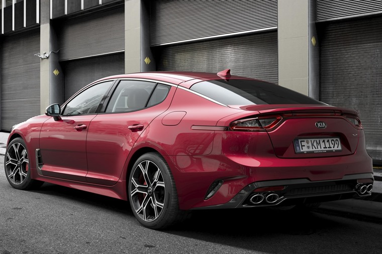 Kia Stinger GT is aiming at the likes of the Audi A7, which it rather resembles from the back.