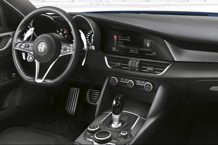 Eight-speed automatic gearbox with steering wheel-mounted controls is standard across the range.