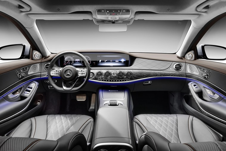 The interior makes use of new materials and two large 12.3in LCD screens.