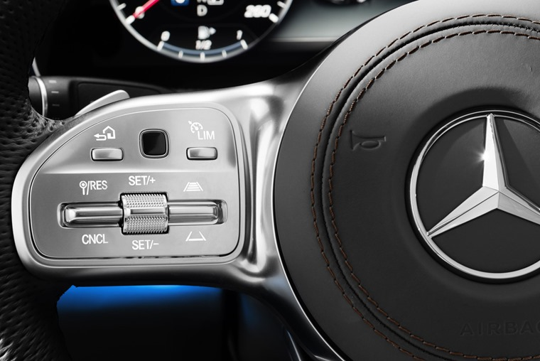 S-Class steering wheel active cruise control