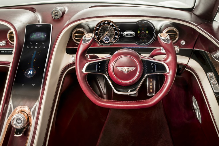 The interior is luxurious and full of tech, in a way only a Bentley can be.