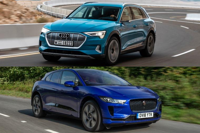 Jaguar I-Pace Audi e-tron driving