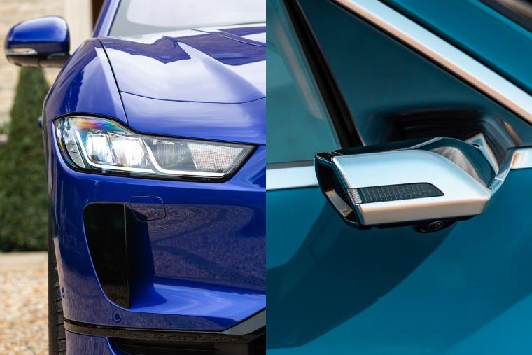 Jaguar I-Pace Audi e-tron front detail