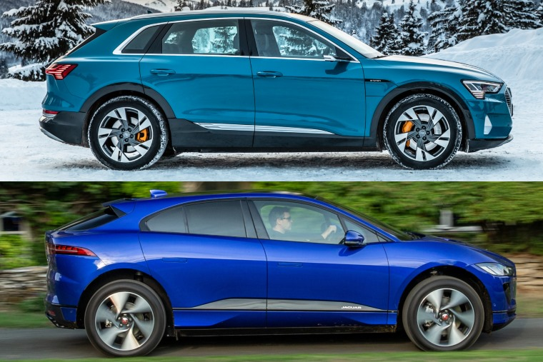 Jaguar I-Pace Audi e-tron side