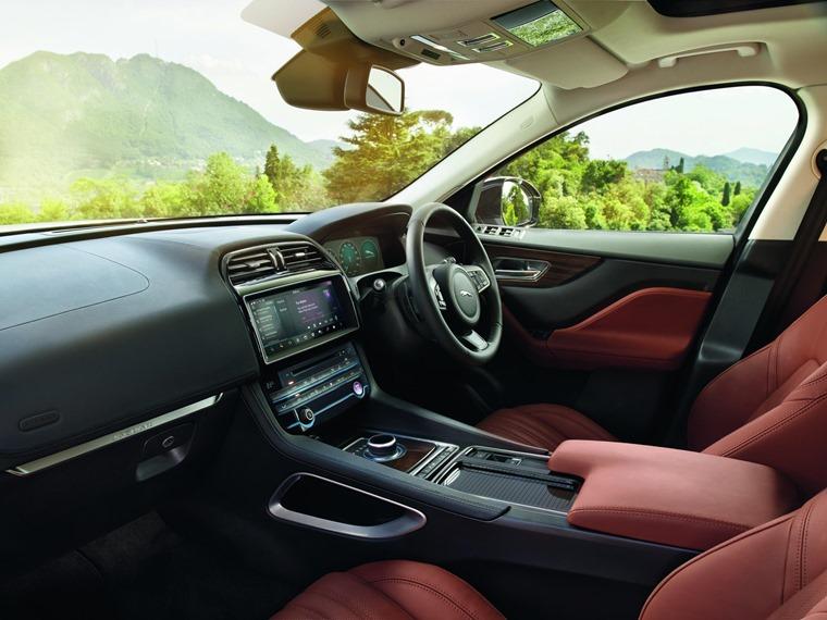 Jaguar F Pace Portfolio Interior Red Leather
