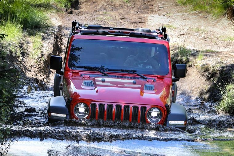 Jeep Wrangler wading