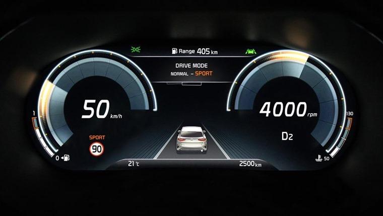 Kia XCeed digital dashboard
