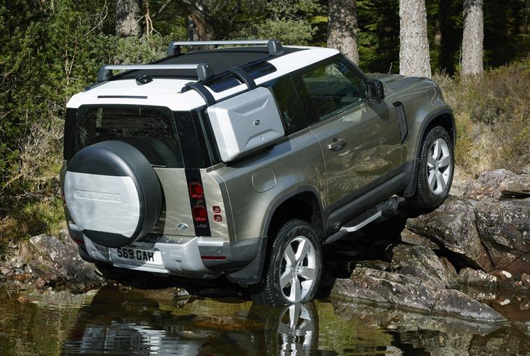 Land Rover Defender hill ascent