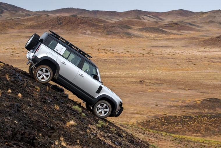 Land Rover Defender hill descent