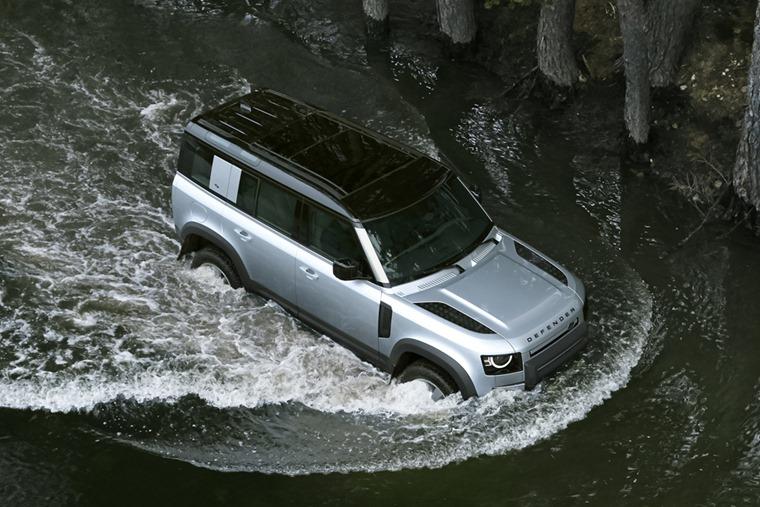 Land Rover Defender wading