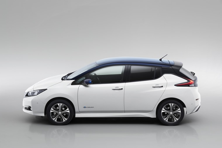New Nissan Leaf side