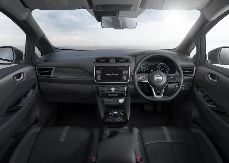 New Nissan Leaf interior