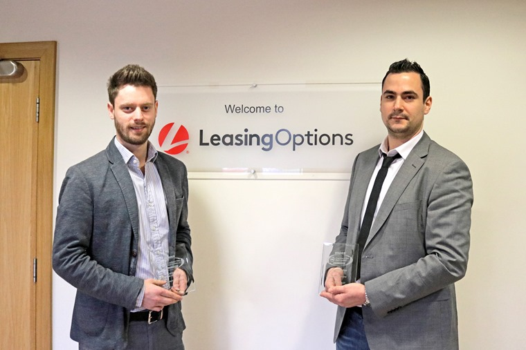 Gareth Roberts, Head of Marketing at Leasing Options with Account Manager Lance Maciulskas.