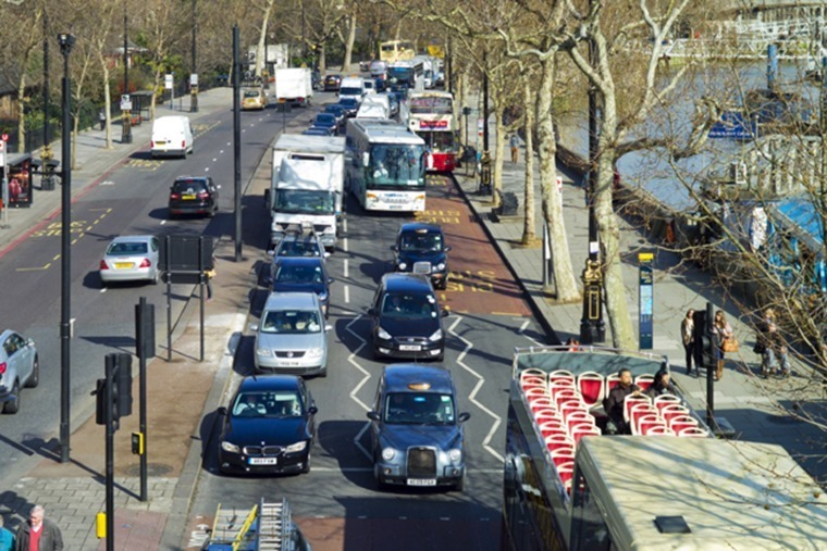 Lodon congestion Embankment