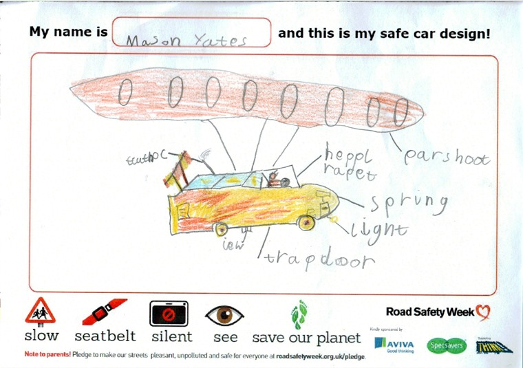 Last year we teamed up with Brake and asked kids to create their ultimate safe car.