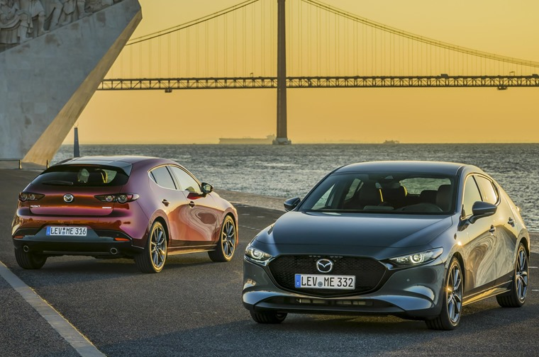 Mazda 3 hatch and saloon