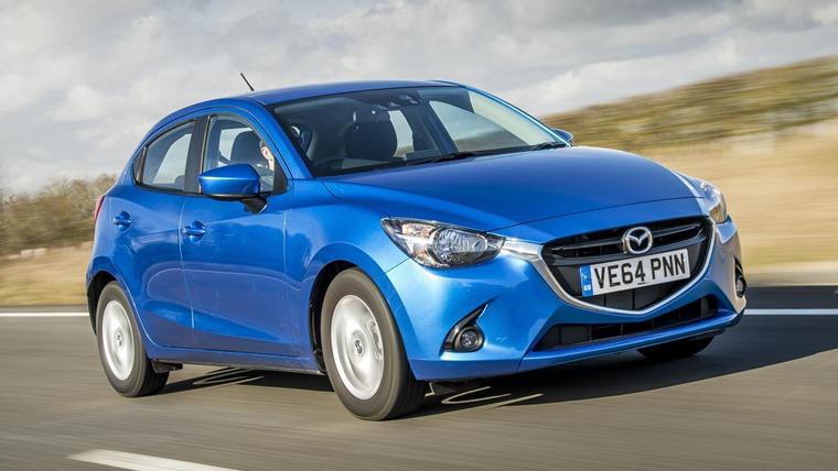 Mazda2 Blue Front Dynamic