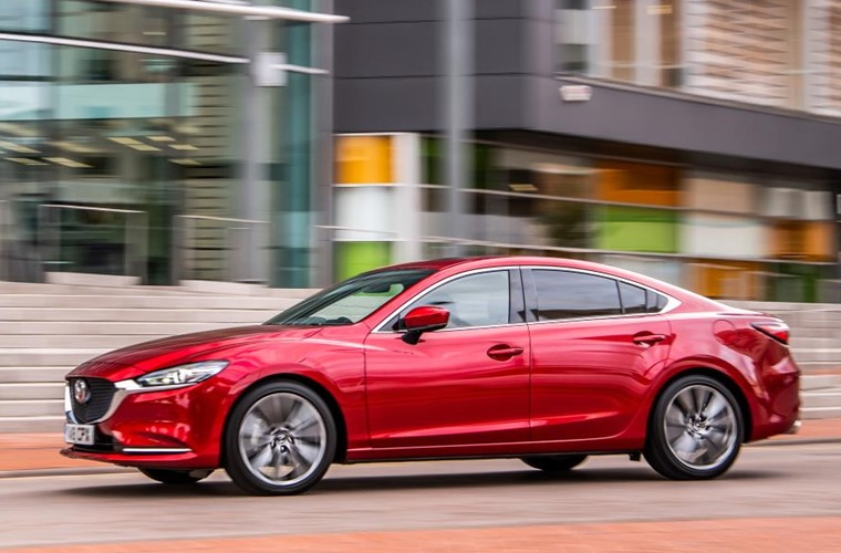 Mazda6 on the road