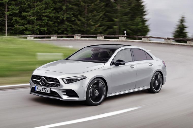 Mercedes A-Class Saloon vs CLA 2019 A-Class driving