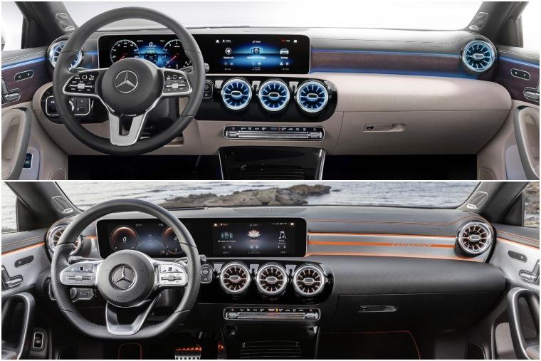 Mercedes A-Class Saloon vs CLA 2019 interior 1
