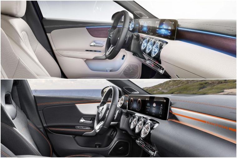 Mercedes A-Class Saloon vs CLA 2019 interior trim differences