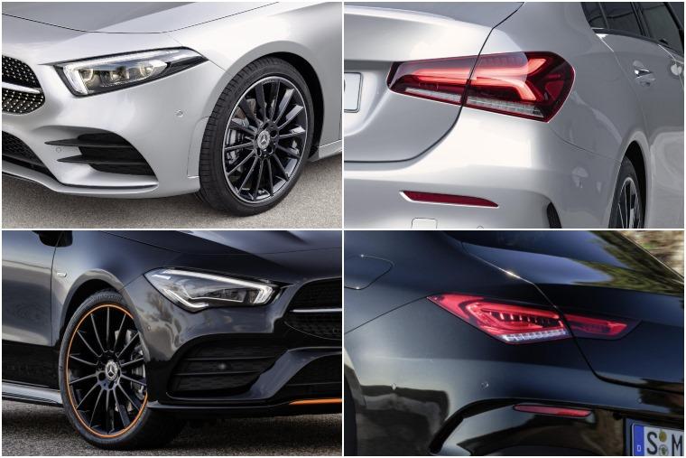 Mercedes A-Class Saloon vs CLA 2019 light details