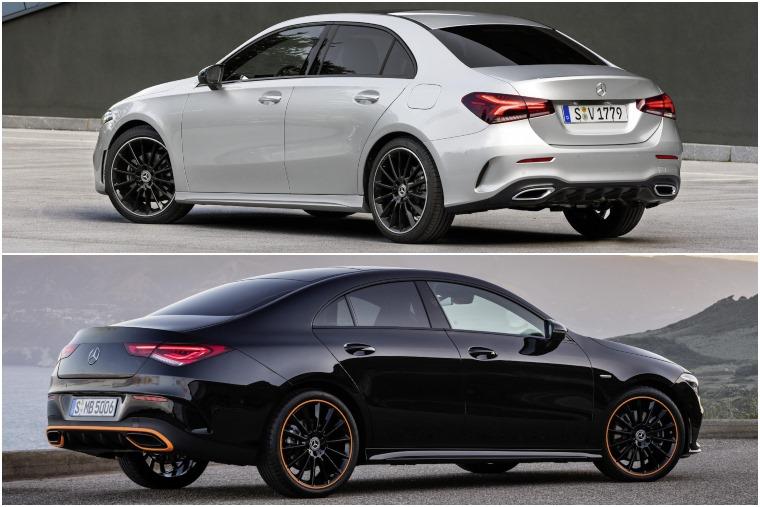Mercedes A-Class Saloon vs CLA 2019 rear design