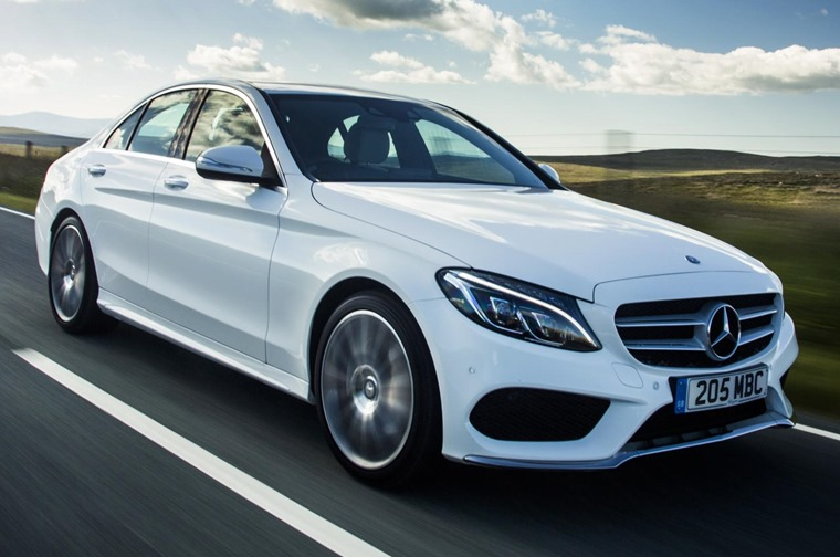 The Mercedes-Benz C Class proved a popular choice this month...