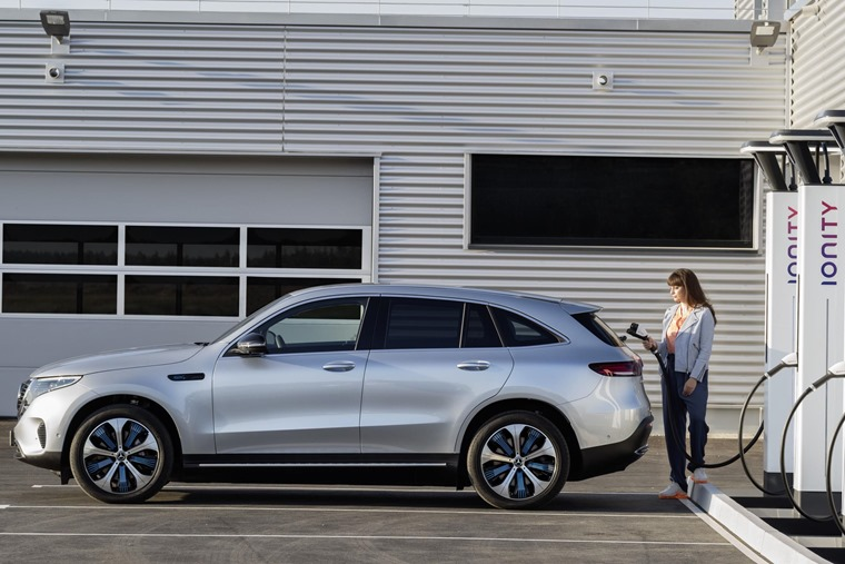 Mercedes-Benz EQC charging