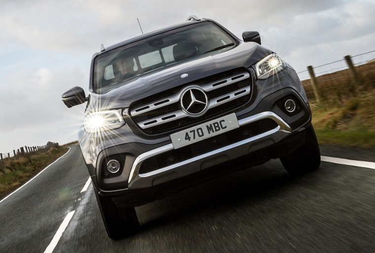 Mercedes X-Class on the road