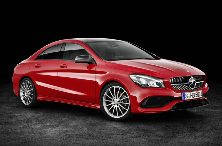 Mercedes Cla 2016 Red Front Static