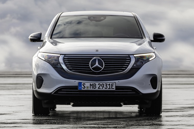 Mercedes EQC front on