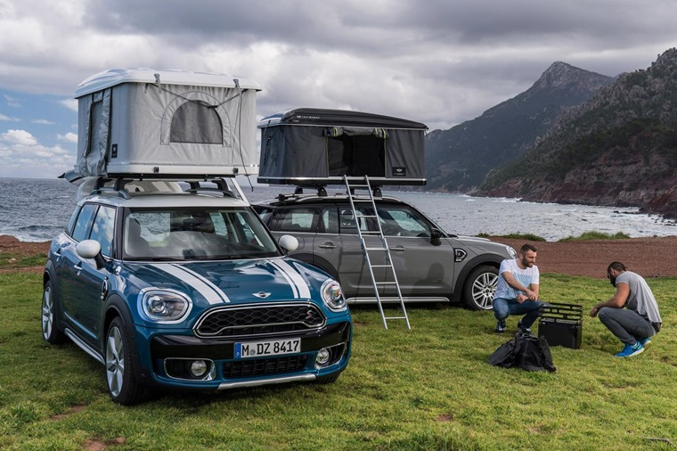 The Mini Countryman PHEV is available with a roof tent.