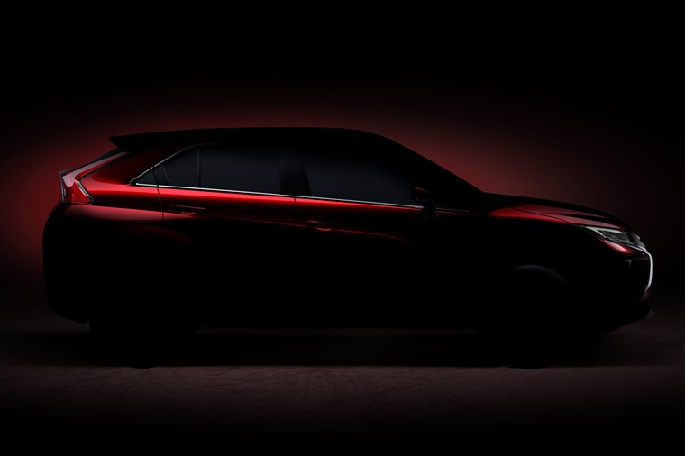 All we've seen so far of Mitsubishi's new SUV is this teaser image.