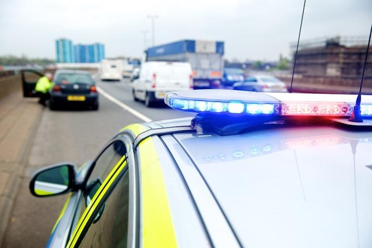 Motorway police traffic officers blue lights - PC - West Midlands Police